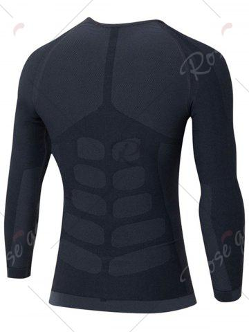 New Quick Dry Stretchy Long Sleeve T-shirt - L GRAY Mobile