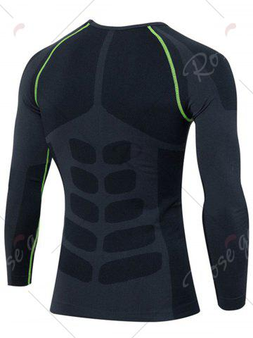 Latest Quick Dry Stretchy Long Sleeve T-shirt - M GREEN Mobile
