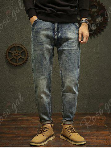 Sale Regular Fit Fade Tapered Jeans - 32 BLUE Mobile