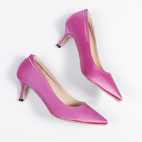 Stiletto Heel Slingback Pumps Sangria 39