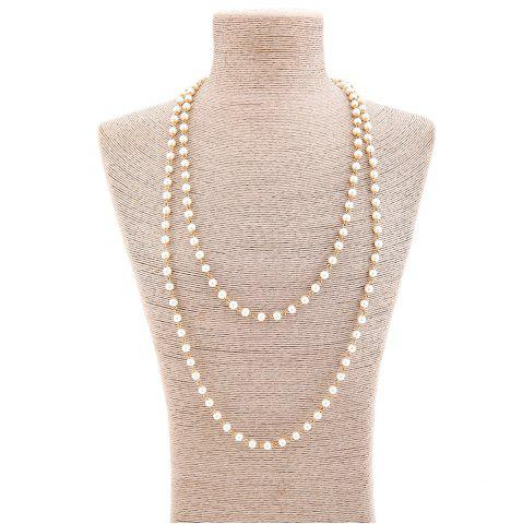 Buy Artificial Pearl Statement Sweater Chain