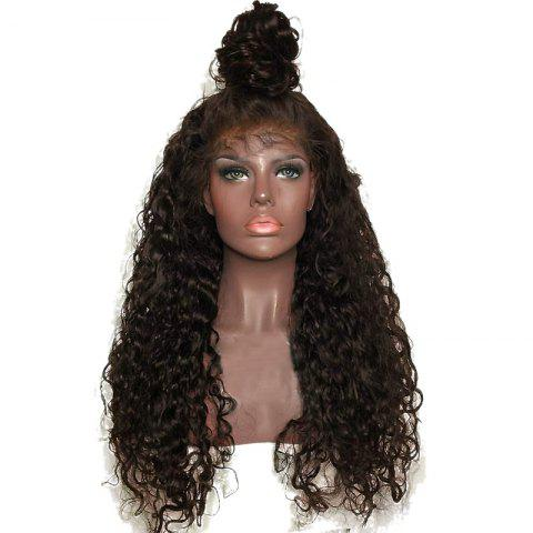 New Long Free Part Shaggy Curly Lace Front Synthetic Wig DEEP BROWN
