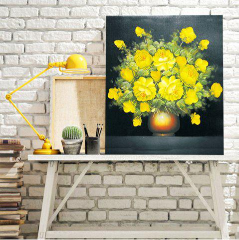 Discount DIY 5D Resin Diamond Rosa Chinensis Paperboard Painting YELLOW