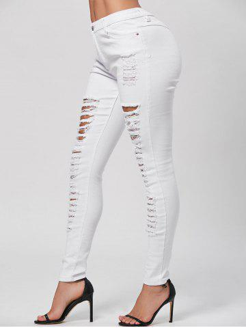 Shops Distressed Pencil Skinny Jeans WHITE M