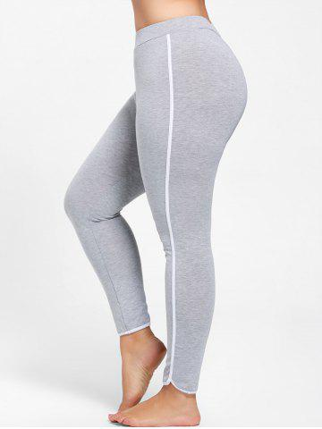 Discount Single Stripe Plus Size Skinny Leggings