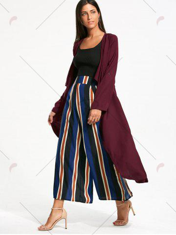 Shop Split Back Longline Waterfall Coat - L BORDEAUX Mobile