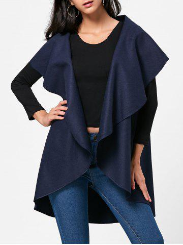 Fashion Open Front Wool Blend Sleeveless Cape