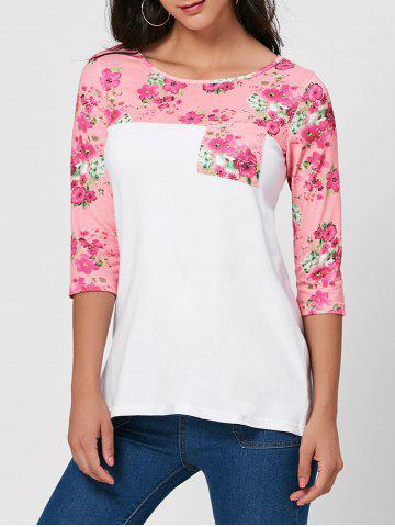 Floral Panel Tunic Tee