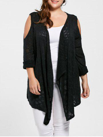 Cardigan Épaules Ouvertes Grande Taille