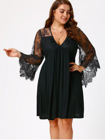 Flare Sleeve Dress Free Shipping Discount And Cheap Sale