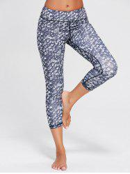 Printed High Waist Capri Yoga Tights