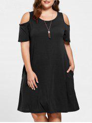 Tunic Cold Shoulder Plus Size Dress
