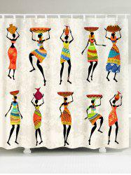 African Tribal Style Lady Pattern Shower Curtain