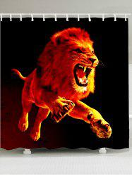 Waterproof 3D Lion Printed Shower Curtain