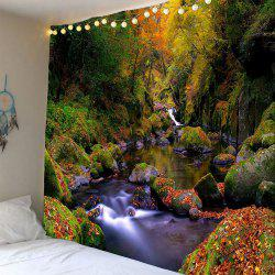 Mountain Forest Stream Home Decor Waterproof Tapestry