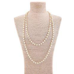 Artificial Pearl Statement Sweater Chain -