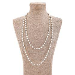 Artificial Pearl Statement Sweater Chain