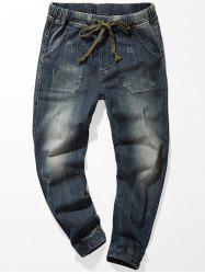 Drawstring Denim Jogger Jeans