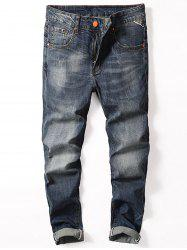 Scratch Faded Slim Fit Jeans