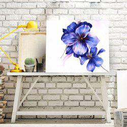 Flower DIY 5D Resin Diamond Paperboard Painting - BLUE VIOLET