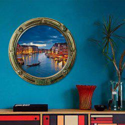 Window Watery City Removable 3D Wall Art Sticker