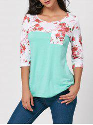 Floral Insert Pocket Tunic Tee