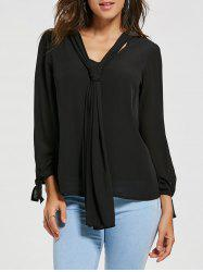 Chiffon Blouse with Optional Tie
