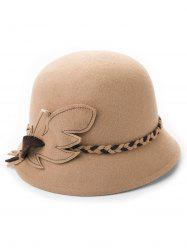 Leaf Patchwork Woolen Blended Felt Hat