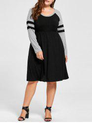 Plus Size Long Sleeve Jersey Dress
