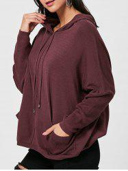 Oversized Hooded Drawstring Sweater