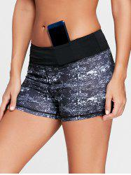 Mini Tie Dye Running Shorts - BLACK XL