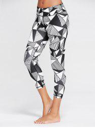 High Waist Triangle Pattern  Running Tights
