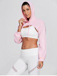 Drop Shoulder Sports Supper Crop Hoodie