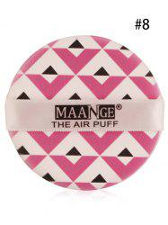 Portable Different Pattern Round Powder Puff with Box - #08