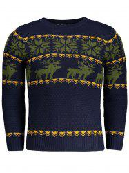 Crew Neck Jacquard Mens Sweater