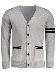 V Neck Button Up Mens Cardigan
