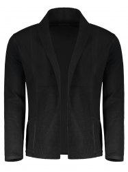 Shawl Collar Open Front Mens Cardigan