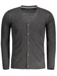 Mens V Neck Button Up Cardigan