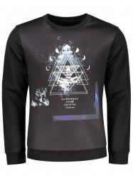 Space Print Sweatshirt
