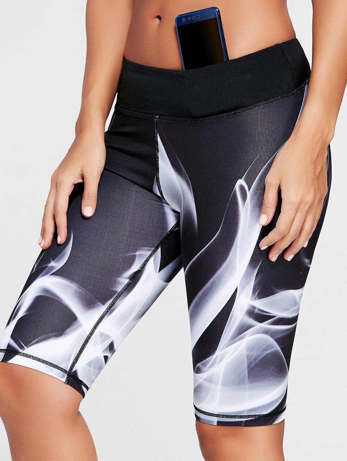 Hot Sports Lights Pattern Bermuda  Leggings