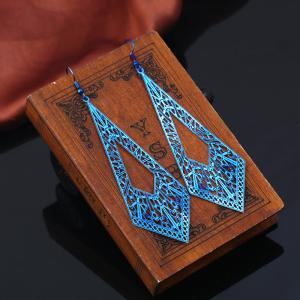 Metal Geometric Vintage Hook Earrings