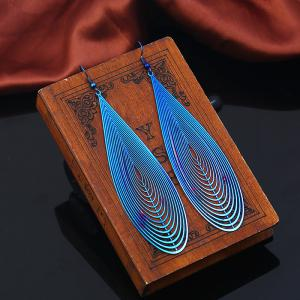 Metal Statement Teardrop Hook Earrings
