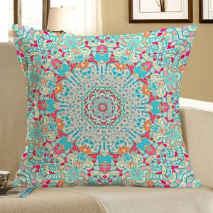Ethnic Geometry Printed Linen Pillow Case - Colorful - W18 Inch * L18 Inch
