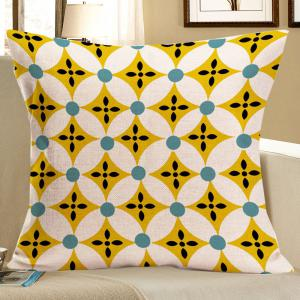 Artistic Geometry Pattern Linen Decorative Pillow Case - Colorful - W18 Inch * L18 Inch