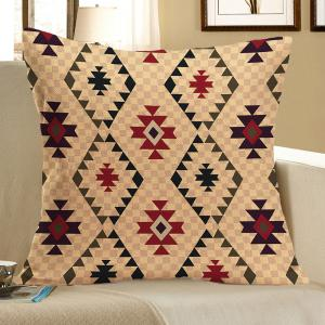 Graphic Pattern Linen Square Pillow Case - Colorful - W18 Inch * L18 Inch