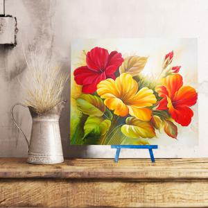 Chinese Hibiscus DIY Resin Diamond Paperboard Painting