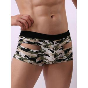 Convex Pouch Camouflage Hollow Trunk - GREEN M