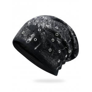 Round Rivet Embellished Beanie - Silver