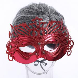 Halloween Glittering Hollow Out Mask - RED