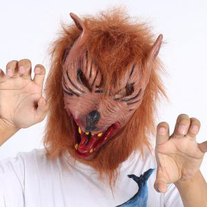 Terror Halloween Cosplay Prop Werewolf Mask - Deep Brown